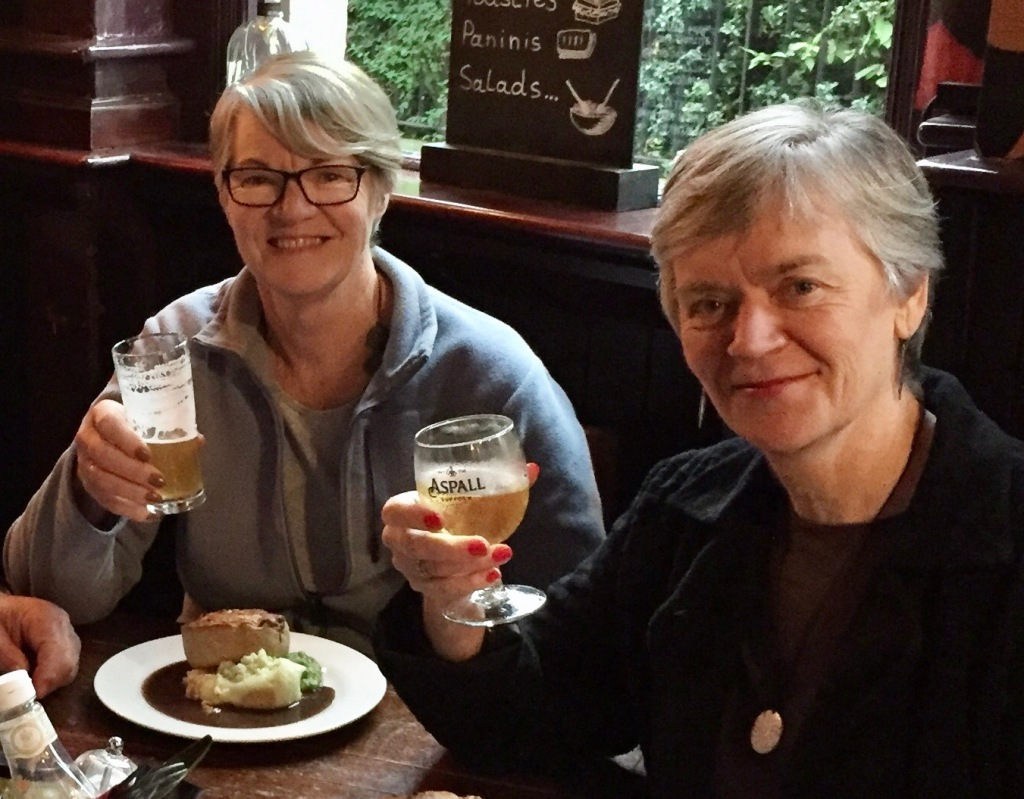 Bev and Marg enjoying spending time together in London