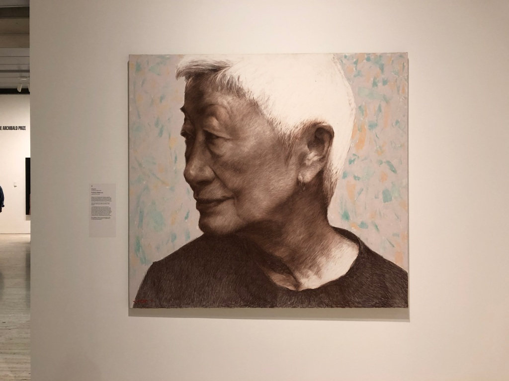 A portrait of Professor Mabel Lee by the artist Hong Fu.